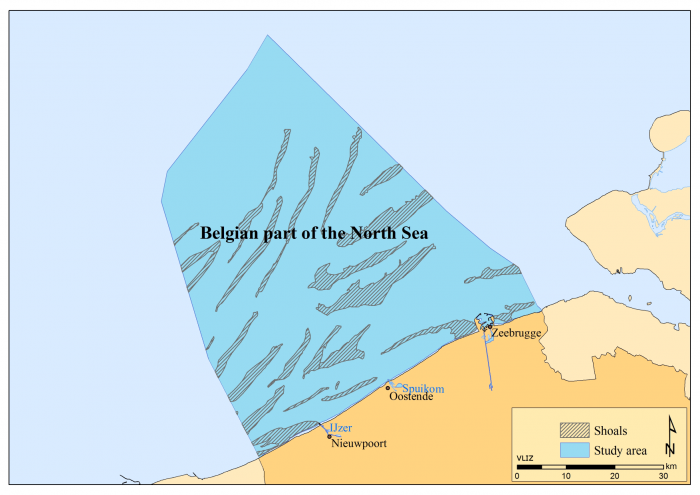 Belgian part of the North Sea