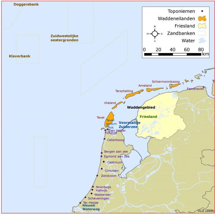 Places along the Dutch Coast