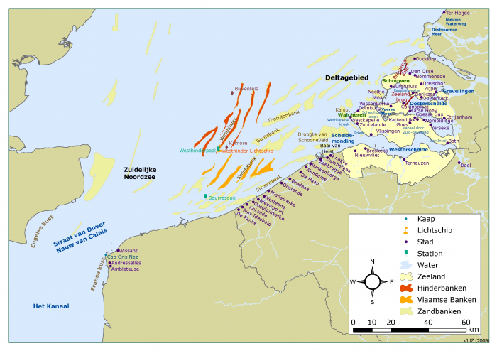 Places along the Belgian and French Coast