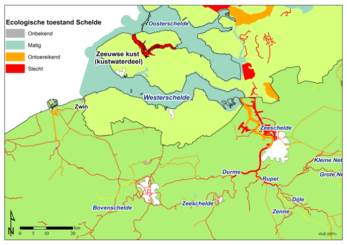 Ecological situation of the Scheldt