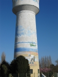 Water tower decoration